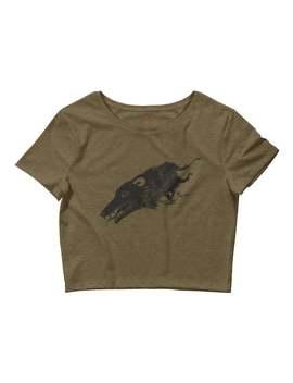 opossum-women's-crop-tee-shirt,-possum-concert-festival-clothing,-mini-top by etsy
