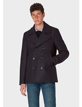 mens-dark-navy-wool-and-cashmere-blend-pea-coat by paul-smith