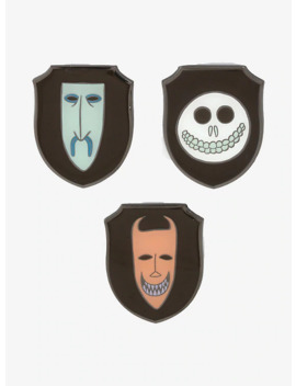loungefly-the-nightmare-before-christmas-lock-shock-&-barrel-enamel-pin-set by hot-topic