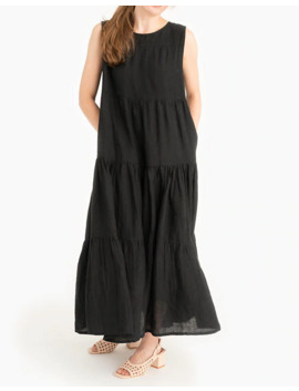 tribe-alive-organic-linen-tiered-maxi-dress by madewell