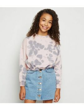 girls-pink-ink-blot-pattern-sweatshirt by new-look