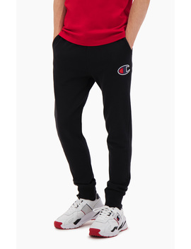 Suede C Cotton Terry Cuffed Joggers by Champion