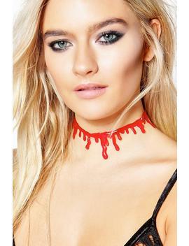 halloween-blood-choker by boohoo