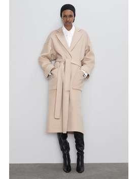 abrigo-bolsillos-plastrón by zara