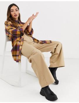 monki---chemise-oversize-en-flanelle-douce-à-carreaux---multicolore by monki
