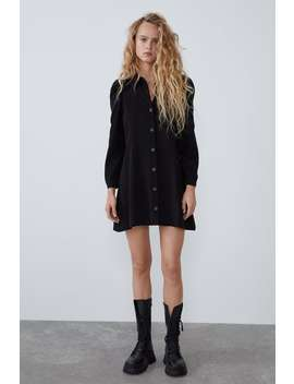 shirt-dress-with-balloon-sleeves by zara