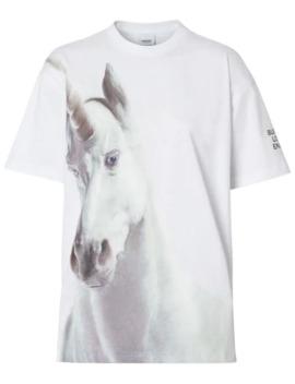 unicorn-print-cotton-oversized-t-shirt by burberry