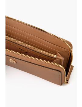 Cardamom Robinson Zip Continental Wallet by Tory Burch