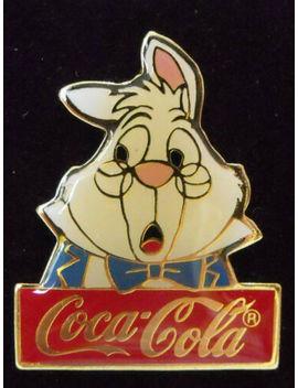 1986-disney-coke-15th-anniversary-coca-cola-white-rabbit-alice-wonderland-le-pin by ebay-seller