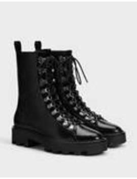 lace-up-platform-ankle-boots by bershka