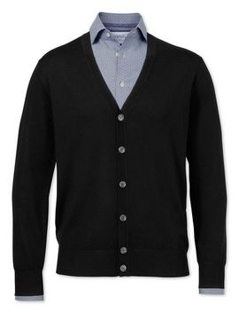 black-merino-wool-cardigan by charles-tyrwhitt