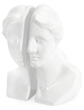 white-greek-lady-bookends,-2-piece-set by imax-worldwide-home