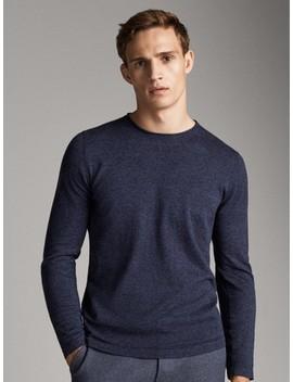 jednobojni-džemper-od-pamuka,-svile-i-kašmira by massimo-dutti