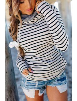 doublehood-sweatshirt---tan-stripe by mindy-maes-market