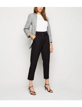 black-d-ring-high-waist-trousers by new-look