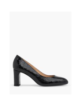 lkbennett-winola-croc-leather-court-shoes,-black by lkbennett