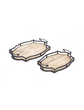 "metal-&-wood-decorative-tray-set,-1575""-&-1875"" by michaels"