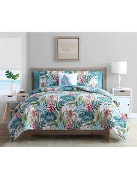 mainstays-tropical-reversible-bed-in-a-bag-comforter-set,-queen,-multi by mainstays