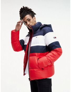 Rugby Puffer Jacke Aus Recycling Stoff by Tommy Jeans