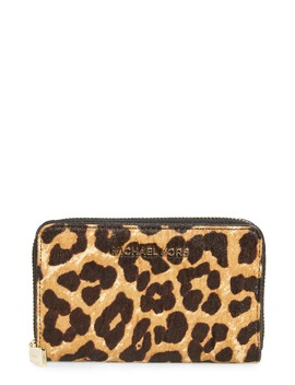 small-jet-set-leopard-genuine-calf-hair-wallet by michael-michael-kors