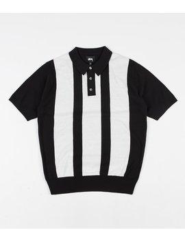 Stussy Miles Polo Sweatshirt   Black by Stussy