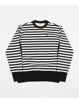 Champion Striped Crewneck Sweatshirt   Black / White by Champion