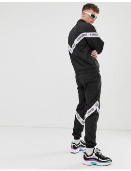 k-swiss-–-westmont-–-svarta-träningsbyxor-med-revärer by k-swiss
