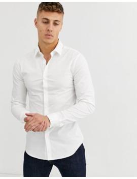 new-look---aansluitend-overhemd-in-wit by new-look