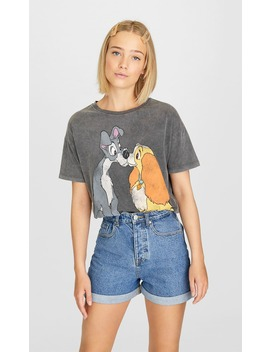 disney-lady-and-the-tramp-t-shirt by stradivarius