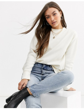 warehouse-minimal-sweatshirt-in-white by warehouse