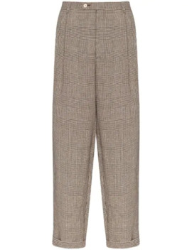 loose-fit-check-trousers by gucci
