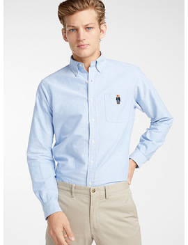 preppy-teddy-bear-oxford-shirt-modern-fit by polo-ralph-lauren