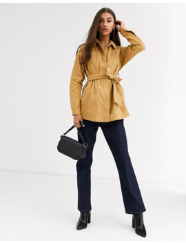 glamorous-tall-button-through-belted-shirt by glamorous