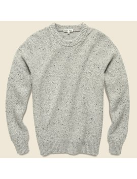 Donegal Crew Neck Sweater   Light Mist by Alex Mill