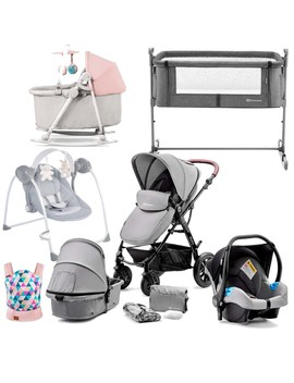 Kinderkraft Moov Newborn Starter Bundle (Grey/Pink) by Precious Little One