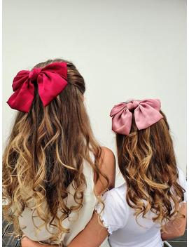 silky-smart-large-hair-bow-for-dance-shows,-school-hairbow,-bridesmaids,-parties,-christmas,-party-bags,-girls-hair-accessories by etsy