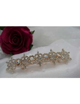 pretty-crystal-barrette-set-in-rose-gold by etsy