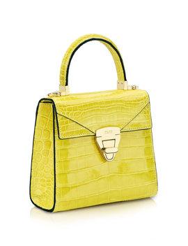 trapezoid-mini-alligator-bag by stalvey