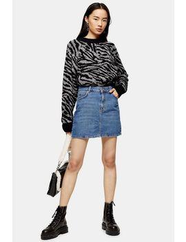 blue-denim-mini-skirt by topshop