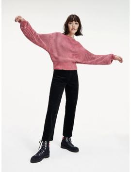 grobstrick-pullover-mit-ballonärmeln by tommy-jeans