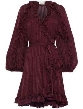 cascade-silk-jacquard-mini-wrap-dress by zimmermann