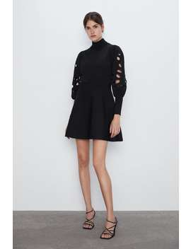 rochie-cu-decupaje-pe-mânecă by zara