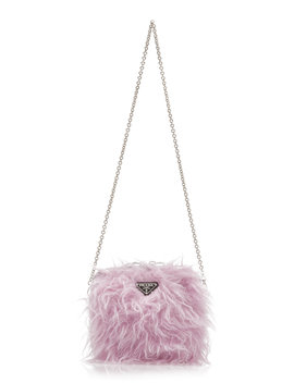 faux-fur-paneled-shell-shoulder-bag by prada