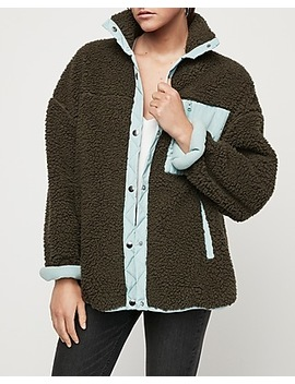 oversized-cozy-color-block-teddy-jacket by express