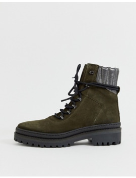 tommy-hilfiger-leather-hiker-lace-up-boots by tommy-hilfiger