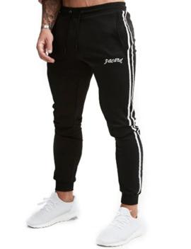 Contrast Stripes Drawstring Sport Jogger Pants by Dress Lily