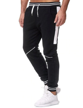 color-block-drawstring-leisure-jogger-pants by dress-lily