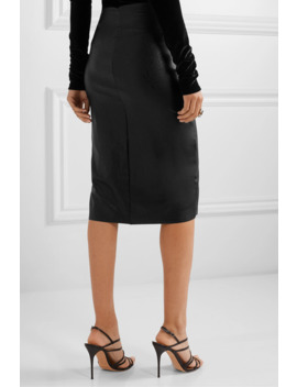 faux-stretch-leather-skirt by commando