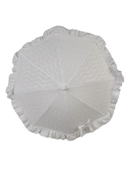 Clair De Lune Baby Shade Parasol (Broderie Anglaise White) by Precious Little One