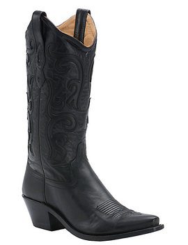 old-west-womens-classic-black-vineyard-snip-toe-western-boot by old-west